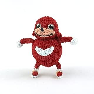 Crochet Ugandan Knuckles Amigurumi Plush, Meme gift