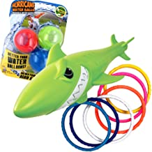 Prime Time Toys Summer Water Fun Pack: Diving Masters Sharkpedo - Dizzy Dive Rings 6 Pack - Hurricane Reusable Water Balls 3 Pack