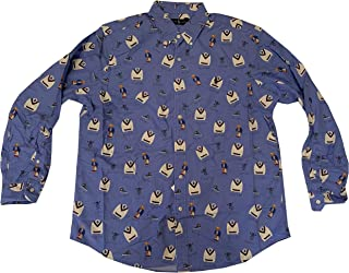 Polo Ralph Lauren Men's Long Sleeve Bear Logo Button Down Casual Shirt
