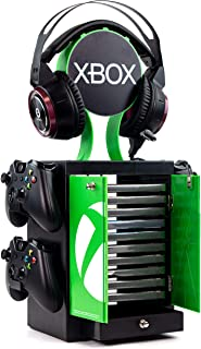 Numskull Official Xbox Series X Game Storage Locker, Headphone Stand and Controller Holder - Stores 10 Games or Blu-Ray Di...
