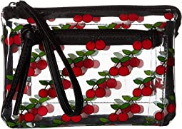 All Over Cherry Clear Wristlet/Crossbody
