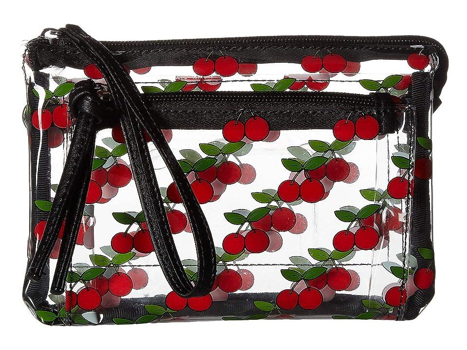 T-Shirt & Jeans All Over Cherry Clear Wristlet/Crossbody (Cherry) Handbags