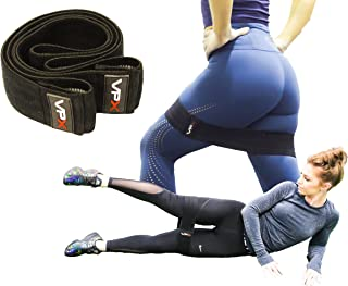 VPX Extra Wide Hip Band | Resistance Bands For Legs, Glutes, Core, Hips, & Butt Workout | Great For Home Fitness, Yoga, Speed, Agility, Gym, & Pilates Exercises | Nonslip Anti-roll Hip Loop
