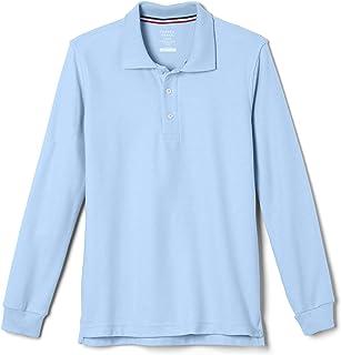 French Toast Boys' Long-Sleeve Pique School Uniform Polo Shirt