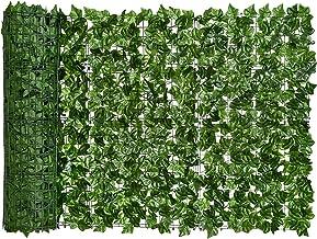 0.5x3m kunstmatige klimop privacy hekscherm kunstmatige heggen hek en faux klimop wijnstok blad decoratie voor outdoor dec...