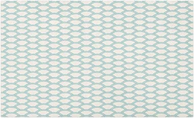 Ambesonne White Doormat, Simplistic Minimalist Design Maritime Oceanic Coastal Theme Water Splash Print, Decorative Polyester