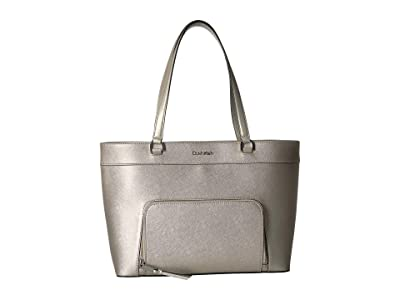 Calvin Klein Louise Saffiano Leather Tote (Buckwheat) Handbags