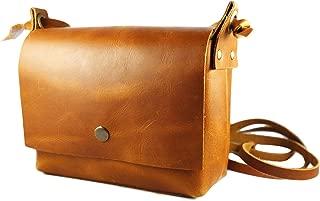 Genuine Leather Crossbody Bag for Women, Tan Color, Vintage Purse