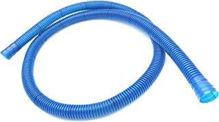 XMHF Universal Flexible Air Conditioner Drain Hose Water Pipe 111cm 3pcs Blue