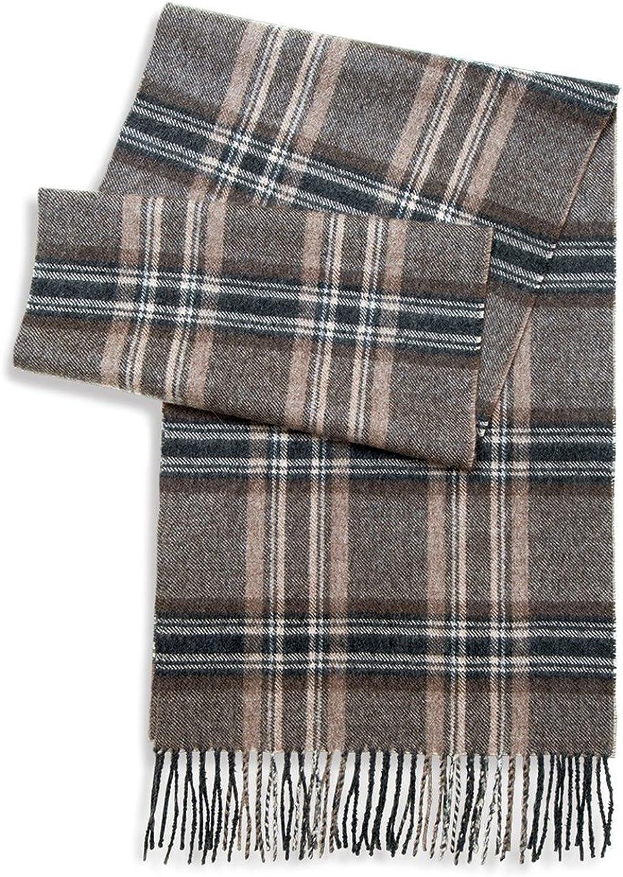 Tartan Plaid Flannel Scarf - 100% Baby Alpaca Wool - Colorful & Natural Plaid, Unisex