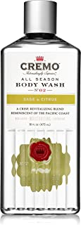 Cremo All Season Body Wash, Sage & Citrus, 16 Ounce