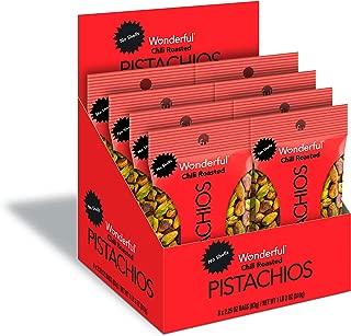 Wonderful Pistachios, No Shells, Chili Roasted, 2.25 Oz (Pack Of 8)