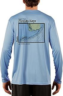 630a5c4af58bb8 Coastal Classics Florida Keys Chart Men's UPF 50+ Long Sleeve T-Shirt