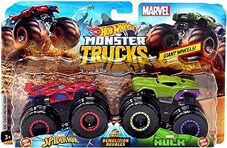 HW Monster Trucks Demolition Doubles Spiderman VS Hulk