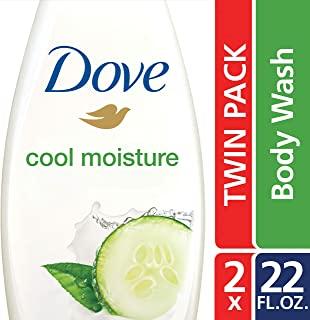 Dove go fresh Sulfate Free Body Wash, Cucumber and Green Tea, 22 Fl Oz (Pack of 2)
