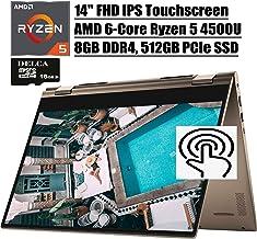 "Dell Inspiron 14 7000 Premium 2 in 1 Laptop I 14""FHD IPS Touchscreen I AMD 6-Core Ryzen 5 4500U (>i7-8550U) I 8GB DDR4 51..."