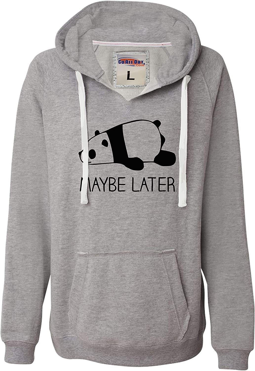 Go All Out Womens Daily bargain sale Maybe Later Panda Soft Latest item Funny Deluxe Hoodie