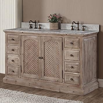 Amazon Com Decoraport 60 In Freestanding Bathroom Vanity A Wk9260 Furniture Decor