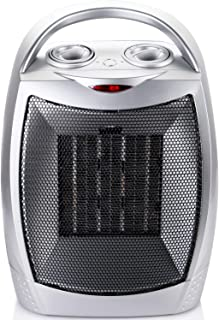 700W/1500W Ceramic Space Heater with Adjustable Thermostat, Portable Electric Heater Fan..
