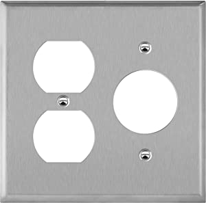 ENERLITES Combination Duplex Outlet or Single Receptacle 1.406