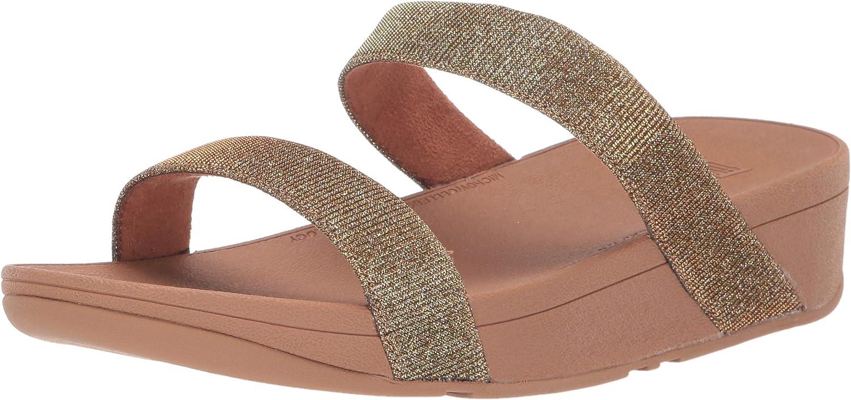 FitFlop Limited time cheap sale Women's Be super welcome Lottie Slide Glitzy Sandal