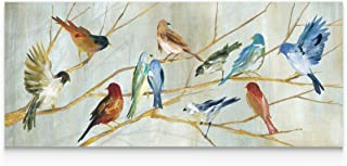 WEXFORD HOME Carol Robinson's 'Spring Migration' Premium Gallery Wrapped Canvas Artwork (3 Art Print, 20x60,