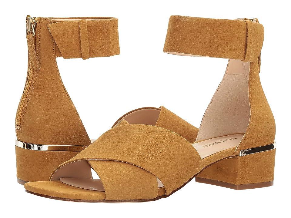 Nine West Yesterday Block Heel Sandal (Tumeric Isa Kid Suede) Women