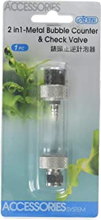 ISTA 2-in-1 Metal Bubble Counter & Check Valve - Threaded