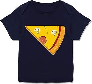 Shirtracer Partner-Look Familie Baby - Pizza Partner Teil 2 - Kurzarm Baby-Shirt für Jungen und Mädchen