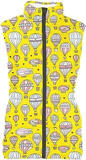 Rainbow Rules Hot Air Balloons & Zeppelin Womens Puffer Vest Bodywarmer Gilet