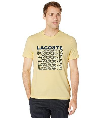 Lacoste Short Sleeve Graphic Back T-Shirt (Napolitan Yellow) Men