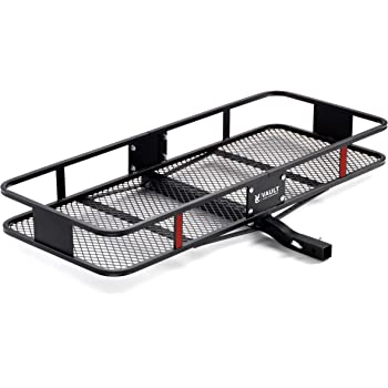 """Hitch Cargo Carrier 60"""" x 24"""" by Vault - Haul Your Gear with This Rugged Steel Constructed Hitch Storage Rack for Your Truck or SUV - Hitch Rack Easily Mounts to Trailer Towing Hitche"""