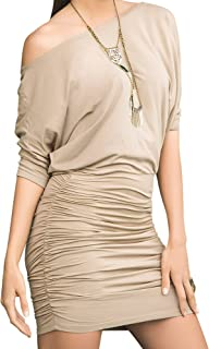 Mapalé by Espiral Women`s Off The Shoulder Short Sleeve Sexy Mini Dress