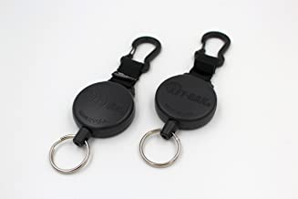 Key-BAK Heavy Duty SECURIT Retractable Reel with Polycarbonate Case, Aluminum Carabiner and Split Ring (2 Pack) (Heavy Duty (48