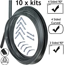 Spares2go Universal 3 & 4 Sided Rubber Oven Cooker Door Seal Kits (With Barbed Corner Clips + Instructions, Pack Of 10)