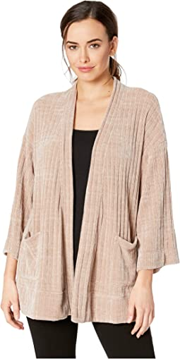 Chenille Rib Kimono Sleeve Cardigan