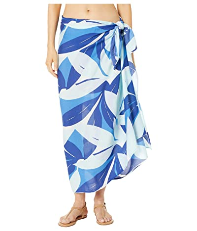 La Blanca Palm Reader Pareo Cover-Up (Blue Multi) Women