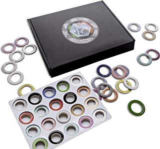 Hexers RPG Status Markers, Track Conditions Effects Spells with Simple Rings, Dungeons and Dragons D&D DND Pathfinder Role-Playing Compatible, 80 pcs, Dry Erase Customizable