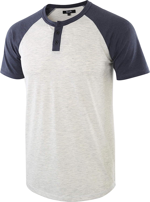 90s Outfits for Guys | Trendy, Party, Cool, Casaul Estepoba Mens Casual Vintage Short Raglan Sleeve Baseball Henley Jersey Shirts  AT vintagedancer.com