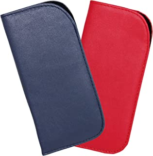 2 Pack Soft Eyeglass Slip Case For Women & Men In A Variety of Colors & Patterns