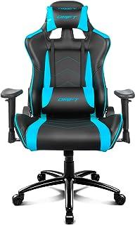 Drift DR150BL - Silla Gaming Profesional, polipiel, reposabrazos ajustable, piston clase 4, asiento basculable, altura regulable, respaldo reclinable, cojines lumbar y cervical, color negro/azul