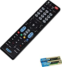 HQRP Remote Control for LG 37LH55 37LK450 37LP1D 42LB1DR 42LB1DRA 42LB4D 42LB5D 42LBX 42LC2D 42LC5DC LCD LED HD TV Smart 1080p 3D Ultra 4K + HQRP Coaster