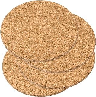 comprar comparacion Juego de 4salvamanteles de corcho, 19cm de diámetro, buen acabado, alta calidad