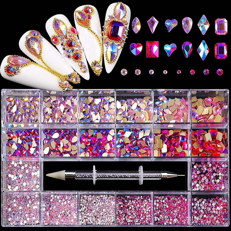 Washington Mall CUKIKI Bling Nail Art Kit Glitter 3D Rhinestone Seasonal Wrap Introduction DIY Nai Diamond