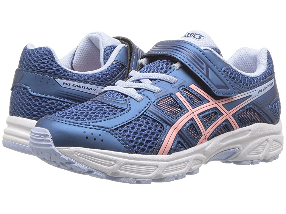 ASICS Kids GEL-Contend 4 PS (Toddler/Little Kid) (Azure/Frosted Rose) Girls Shoes