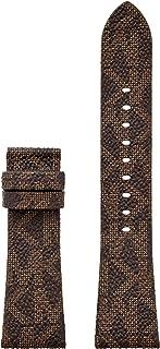 Women's Bradshaw Stainless Steel Quartz Watch with Leather Strap, Brown, 22 (Model: MKT9088)
