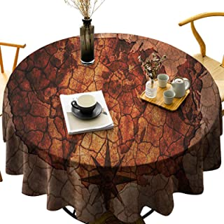 Dasnh Round Polyester Tablecloth Wash Free, Wrinkle Free Retro American Cartograph Diameter 70 inch Great for Wedding | Re...