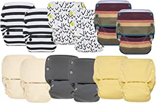 GroVia Reusable All in One Snap Baby Cloth Diaper (AIO) – 12 Pack (Color Mix 1)