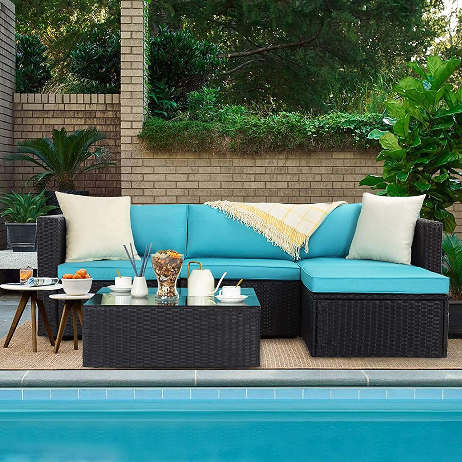 VITESSE 5 Pieces Outdoor Furniture latest Animer and price revision Sectional Patio Furnitu Sets