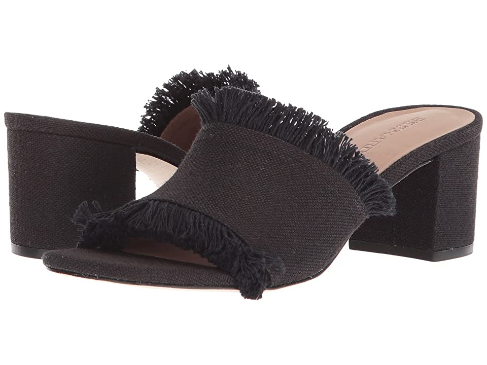 Image of Bernardo Blaire (Black Linen) Women's Sandals